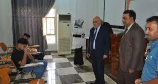 رئيس جامعة المثنى يتفقد سير الامتحانات النهائية الدور الثاني